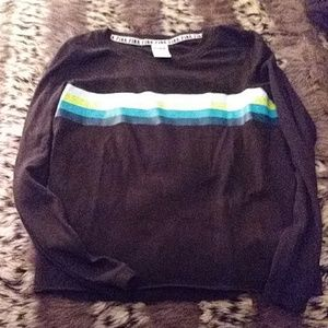 VS PINK Black long sleeve with stripes